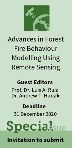 "Special Issue ""Advances in Forest Fire Behaviour Modelling Using Remote Sensing"""